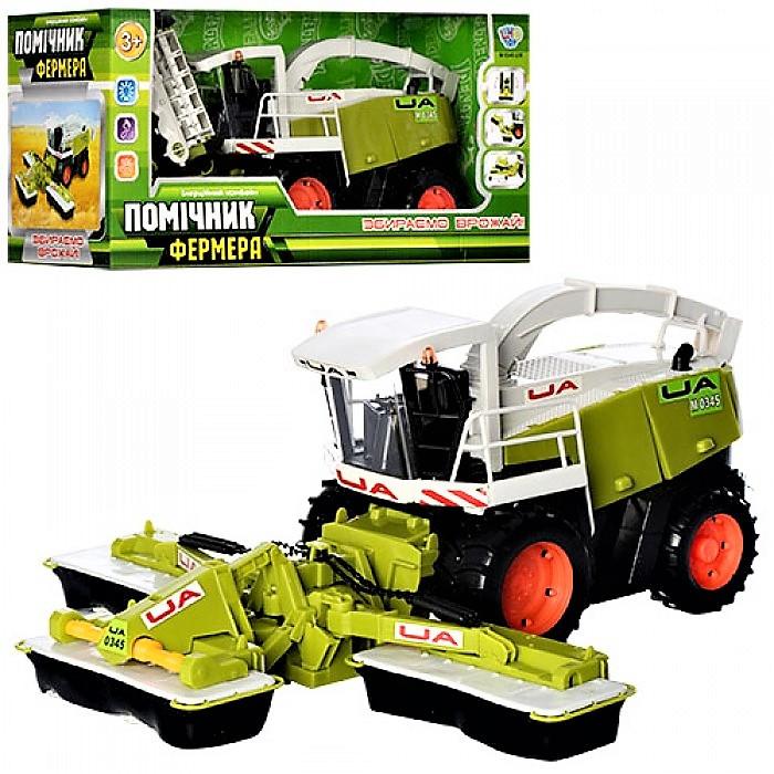 """Комбайн M 0345 U/R, """"Помiчник фермера"""", инерционный, 41 см, подвижные детали, в коробке, сельхозтехника"""