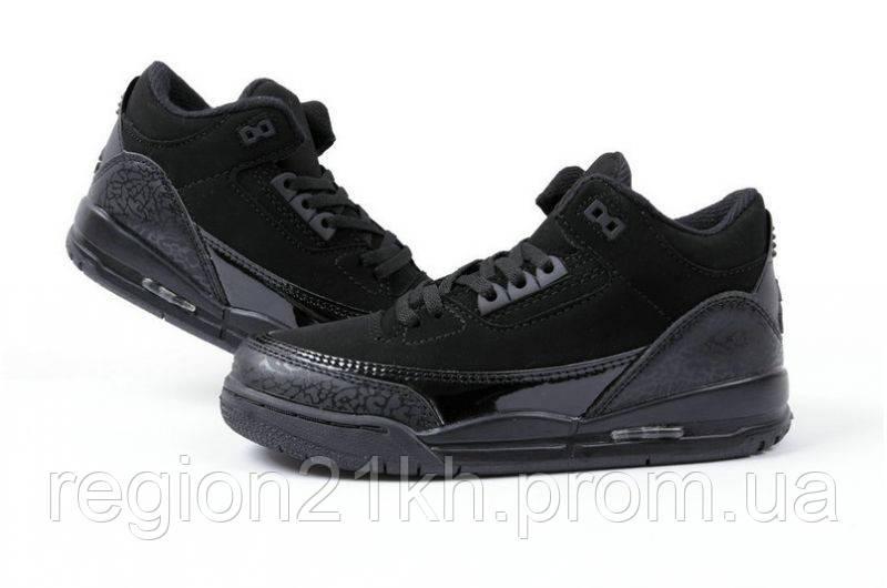 Баскетбольные кроссовки Nike Air Jordan Retro III 3 Black Cat