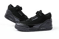 Баскетбольные кроссовки Nike Air Jordan Retro III 3 Black Cat, фото 1