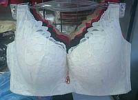 Бюстье Чашка Д белое кружевное сьемные  шлейки широкая спинка_D139