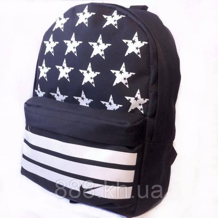 Детский портфель Найк, женский рюкзак со звездами Найк реплика