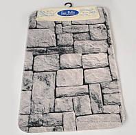 Набор ковриков для ванной Ege Bella 1090 Stone 60х100 см