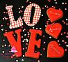 Подарочный набор на День Влюблённых - расписной медовый имбирный пряник