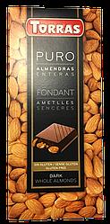 Шоколад черный Torras Puro с миндалем 200г (Испания)