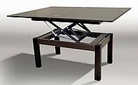 "Стол-трансформер""Флай"" (ножки - тополь/столешница - ДСП)слож. 92х60х52 см.разлож. 121х92х75 см. венге магия"