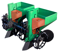Картофелесажалка для мотоблока, мототрактора, минитрактора двухрядная КСН-90л(1т) с бункером для удобрений