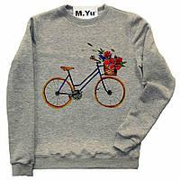 Свитшот Велосипед с цветами