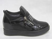 Ботинки женские на платформе 36-41 черные
