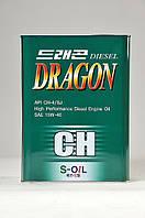Полусинтетическое моторное масло DRAGON CH 15W-40