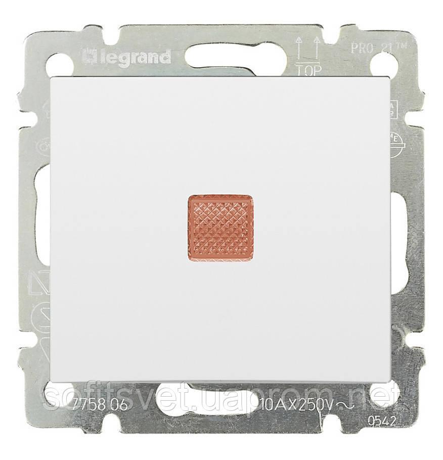 Переключатель на два направления с индикацией Valena 10 AX 250 В~ белый Legrand 774425