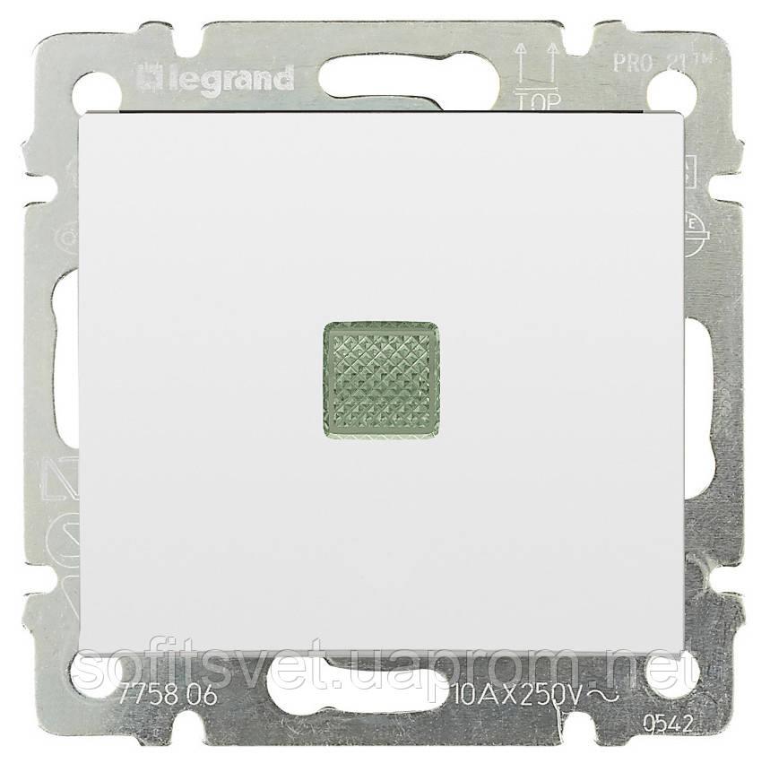 Выключатель с подсветкой Valena 10 AX 250 В~ белый Legrand 774410