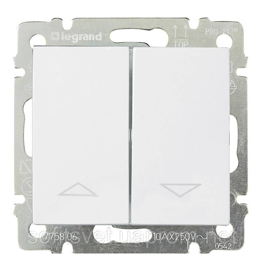 Переключатель с механической блокировкой Valena 10 А 250 В~ белый Legrand 774404 для жалюзи