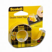 Двусторонняя клейкая лента Scotch,  12 мм х 6,3 м, на мини-диспенсе