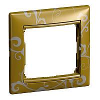 Рамка Valena 1 пост золото барокко Legrand 770020
