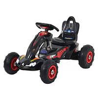 Детский педальный Карт M 1561-2 веломобиль, резиновые колеса, черный***