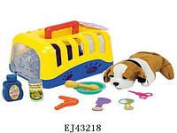 Собачка с аксесуарами (арт. 204), пластик,ткань, пакет ОПП, 26.50x19.00x18.00см, 3-6 лет, Jambo, 100087479