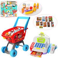 Детская тележка с кассой и продуктами LS820A23-A23-1