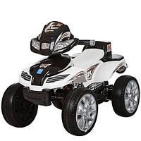 Детский квадроцикл M 0417 E-1-2 на резиновых EVA колёсах, чёрно-белый***
