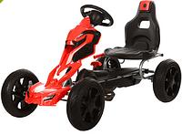 Детский спортивный картинг,на педалях,ЕВА колеса 1504-2-3 (железный,педальный,ручной тормоз,колесаEVA,цепная передача,регулируется сиденье)