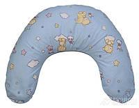 Подушка Лежебока для кормления с рисунком «Звёздочки на голубом», фото 1