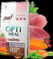 Корм Optimeal Dog Adult Grain Free Duck & Vegetables, для взрослых собак всех пород, 1,5 кг