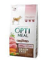 Корм Optimeal Dog Adult Grain Free Turkey & Vegetables, для взрослых собак всех пород, 10 кг