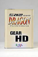 Минеральное трансмиссионное масло DRAGON GEAR HD 85W-140
