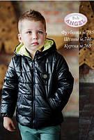 Демисезонная курточка для мальчика Baby Angel 765 цвет черный