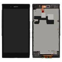 Дисплей для мобильных телефонов Sony C6802 XL39h Xperia Z Ultra, C6806 Xperia Z Ultra, C6833 Xperia Z Ultra, черный, с сенсорным экраном, с передней