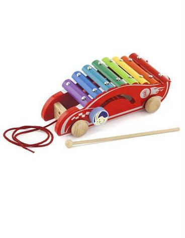 Развивающие и обучающие игрушки «Viga Toys» (50341) каталка Машинка, фото 2
