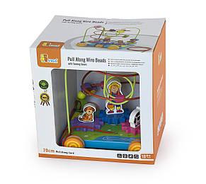 Развивающие и обучающие игрушки «Viga Toys» (50120) лабиринт-каталка Машинка, фото 2