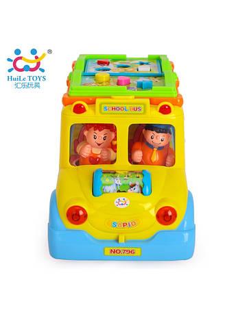 Развивающие и обучающие игрушки «Huile Toys» (796) Школьный автобус (звук. эффекты), фото 2