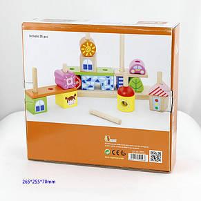 Развивающие и обучающие игрушки «Viga Toys» (50043VG) набор кубиков Город, фото 2