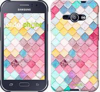 "Чехол на Samsung Galaxy J1 Ace J110H Красочная черепица ""3703c-215"""