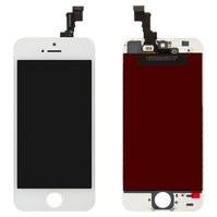 Дисплей  iPhone 5S, iPhone SE, белый, с сенсорным экраном, с рамкой, O