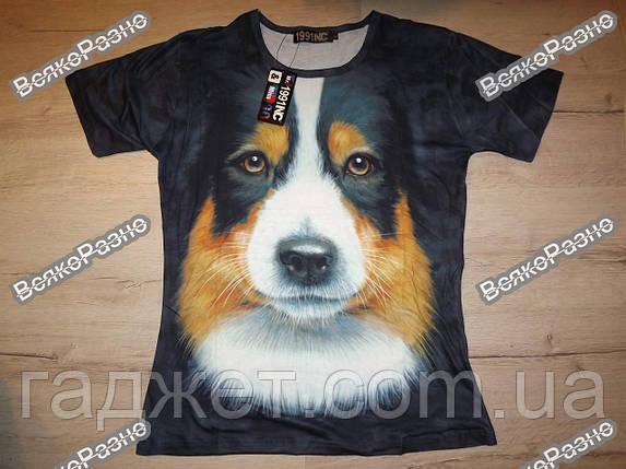 Мужская футболка The Mountain с 3D изображением собаки. Размер XL, фото 2