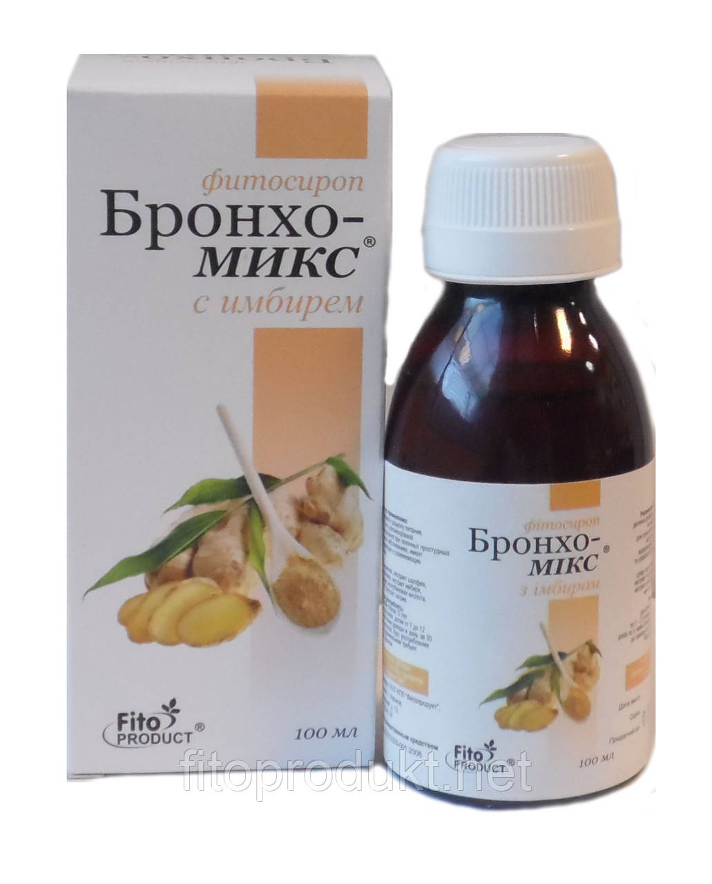 Бронхо-микс фитосироп с имбирем, 100мл, Fito Produkt™