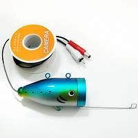 CC-12W-Fish Finder Camera, Подводная видеокамера для рыбалки 12 белых светодиодов, 15 м кабель, фото 1