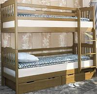 Венгер Ева кровать двухъярусная с ящиками 1700х1980х880мм  80х190