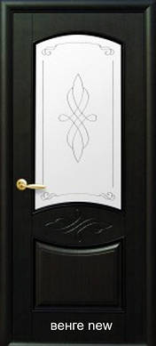 "Двери Донна стекло с рисунком Р1 пвх ""De Luxe"""