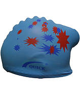 Шапочка для плавания женская.Цвет:голубой.Шапочка для плавання жіноча.