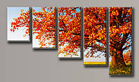 "Модульная картина на холсте из 5-ти частей ""Осенний пейзаж"""