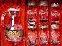 """Набор 7 предметный GE05-3944/402 (1кувшин+6 стаканов) рисунок""""Мускат""""."""