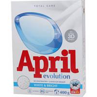 Стиральный порошок APRIL Evolution автомат white&bright 400 г