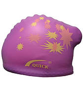 Шапочка для плавания женская. Цвет:фиолетовый.Шапочка для плавання жіноча.