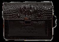 Маленькая прямоугольная женская сумка из натуральной кожи коричневого цвета (MNW-093244)