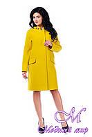 Женское стильное демисезонное пальто больших размеров арт. 934 Тон 411