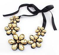 Воротничок ожерелье нарядное Цветы