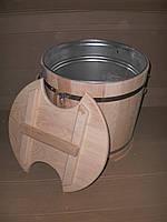 Запарник для веников дубовый 32 л. с металл. вставкой