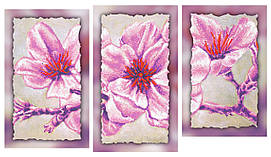 """Схема для вышивки бисером """"Магнолия"""", на холсте (модульный триптих)"""